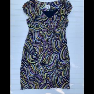 Milly Of New York Dress Size 6 Printed Silk Blend